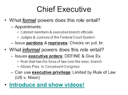 Role Of Cabinet Members Powers U0026 Roles Of The President Chapter 14 Theme B Ppt Download
