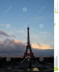 Beautiful Eiffel Tower by Beautiful Sunset Scenery Of Eiffel Tower Paris Stock Photo Image