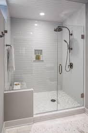 bathroom tile black subway tile grey subway tile gray subway