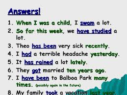simple past vs present perfect tense