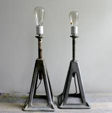 accessories double vintage industrial table lamp with iron stand