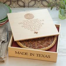 goode brazos bottom pecan pie in a wooden box