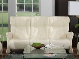 Low Back Leather Sofa Lune 3 Seat Low Back Leather Sofa By Himolla Zerostress Furniture
