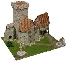 architectural model kits aedes ars medieval tower building construction kits aed1256 hobbies