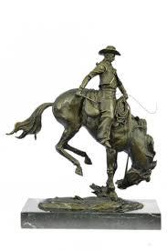 Horse Statues For Home Decor Bronzioni Bronzioni Remington Bronco Buster Bronze Sculpture