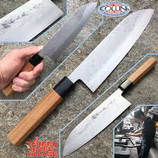 takefu village santoku knife 180mm by mr kanehiro kintaro