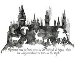 hogwarts painting etsy
