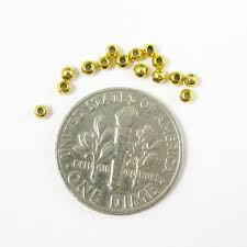 Silver Findings For Jewelry Making - wholesale gold plated sterling silver 2mm round beads for jewelry