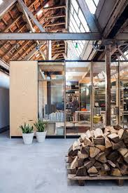 temporary wooden boxes or how to survive an old factory renovation