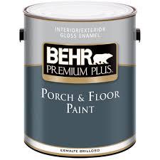 behr premium plus 1 gal gloss medium base porch and floor paint