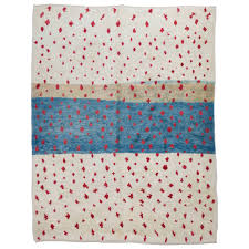 Moroccan Rug Runner Contemporary Moroccan Rug In Blue Red And Ivory For Sale At 1stdibs