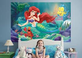 mermaid mural wall decal shop fathead disney