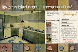 Mid Century Kitchen Cabinets Midcentury Wood Kitchen Cabinets In A Rainbow Of Tinted Colors