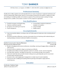 Professional Satellite Communications Operator Templates to     My Perfect Resume