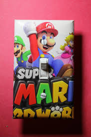 super mario world 3d light switch plate cover gamer room home