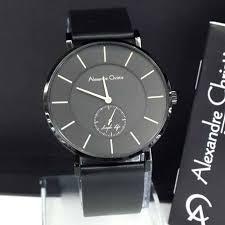 Jam Tangan Alexandre Christie Terbaru Pria alexandre christie jam tangan hitam kulit hitam ac 8344