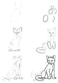 imágenes de gatos fáciles para dibujar cómo dibujar un gato a lápiz con bocetos paso a paso
