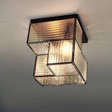 industrial flush mount light industrial textured glass flushmount square west elm