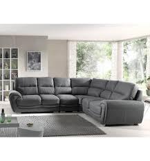 canap d angle assise profonde canapé d angle droit avec large espace d assise en tissu gris