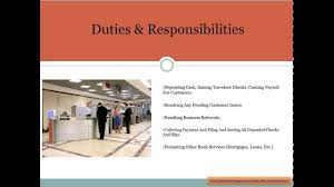Teller Duties For Resume Bank Teller Job Description Youtube