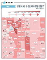 mapping rent prices in denver this summer june 2016 the zumper
