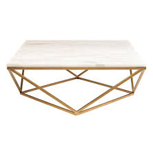 rosalie hollywood regency gold steel white marble coffee table