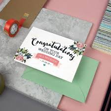 Congratulations On Your Wedding Day Personalised U0027congratulations On Your Wedding Day U0027 Card By Love
