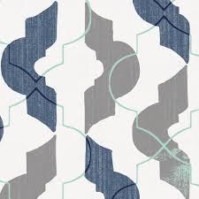 Graphic Duvet Cover Denim And Gray Modern Quatrefoil Duvet Cover Carousel Designs