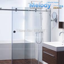 Frameless Shower Sliding Glass Doors Free Shipping No Glass No Bar Frameless Shower Sliding Door