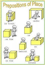 resultado de imagem para preposition in on under worksheets pdf
