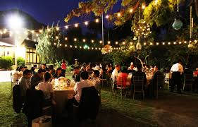 Outdoor Wedding Lights String by Outdoor Wedding Reception String Lights Bistro Lights Hanging