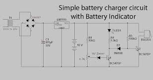 simple battery charger circuit with battery indicator u2013 circuit