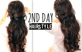 cute 2nd day hair crossover braids hairstyles tutorial