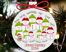 personalized family ornament snowman family ornament hosf