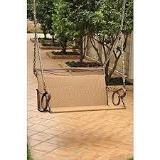 amazon com wicker resin steel patio porch swing porch swings