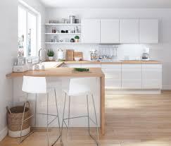 cuisine en blanc cuisine blanc chene impressionnant tapis 160 230 cm milan imprimé