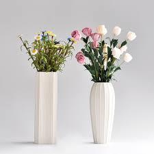 Wholesale Flower Vase Wholesale Home Decoration Stripe White Ceramic Flower Vase View