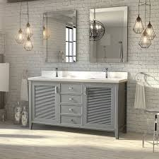 63 inch oxford gray finish cottage double sink bathroom vanity