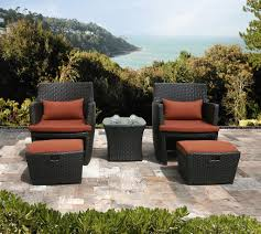 Chairs And Ottoman Sets Chair Wicker Patio Chairs With Ottoman Patio Chair And Ottoman