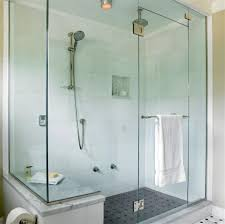 unique bathroom shower glass partition for home design ideas with
