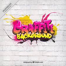 graffiti design graffiti on white wall vector free