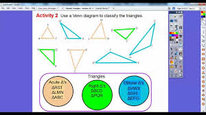 classify triangles lesson 10 2 youtube
