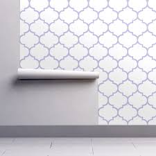 fancy lattice lavender outline wallpaper zoetdesign spoonflower
