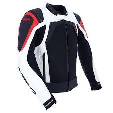 white motorcycle jacket held hashiro leather motorcycle jacket black white red ebay