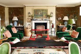 Green Armchairs Green Armchairs Tapestries Traditional Living Room Design Ideas