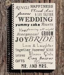 wedding gift journal wedding journal wedding notebook wedding word mash gift for