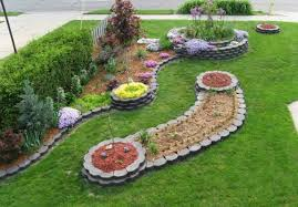 Metal Flower Bed Edging Creative Idea Unique Garden Design With Small Gravels Also