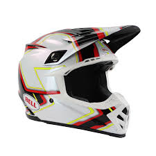 motocross helmet visor bell new 2017 mx moto 9 pace dirt bike red yellow black white