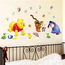 online get cheap kids removable wall decals aliexpress com kids bedroom 3d winnie the pooh wall stickers removable diy nursery wall decals home decor baby