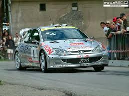 peugeot 206 rally roman kresta jan tománek peugeot 206 wrc
